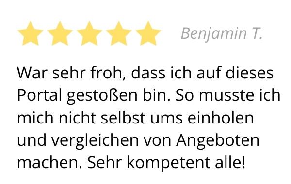 Bewertung Benjamin T.